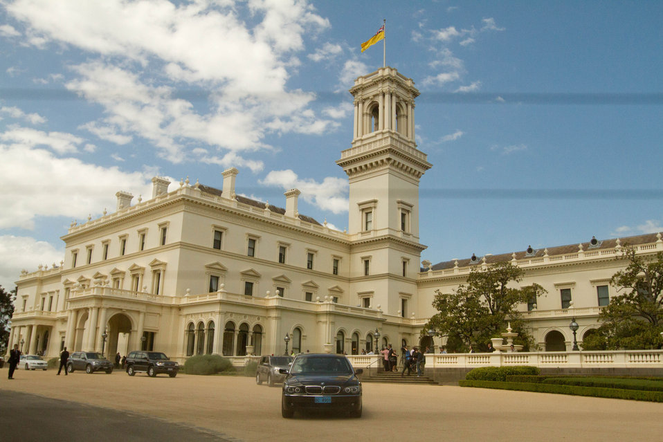 Secretary Clinton Leaves the Government House in Melbourne