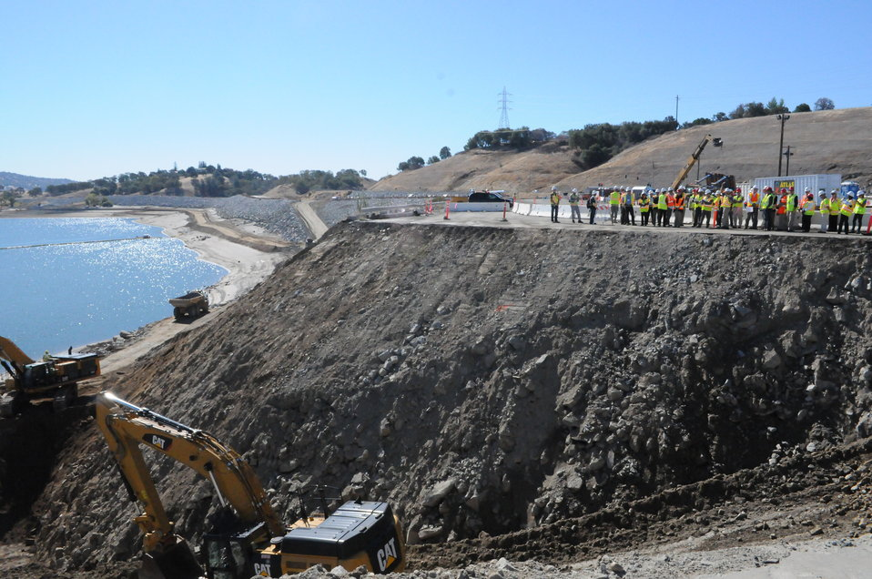 Central Valley Flood Protection Board visits new Folsom Dam spillway