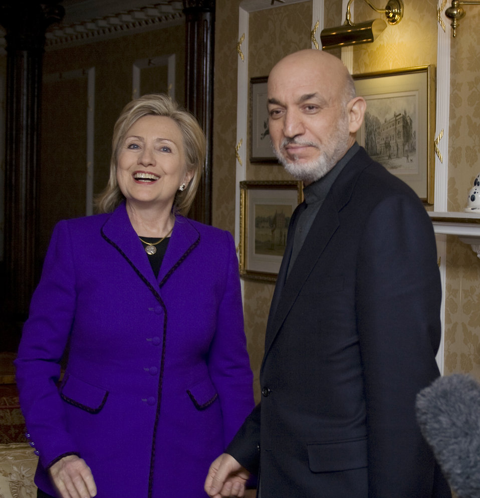 Secretary Clinton With President Karzai