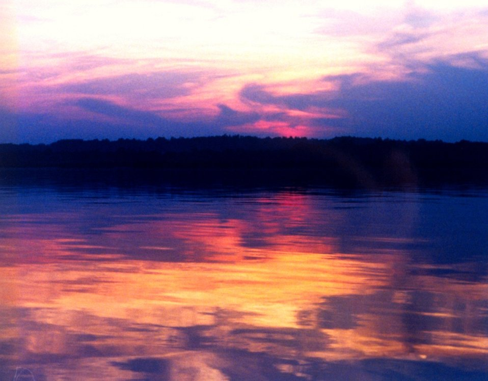A Patuxent River sunset.