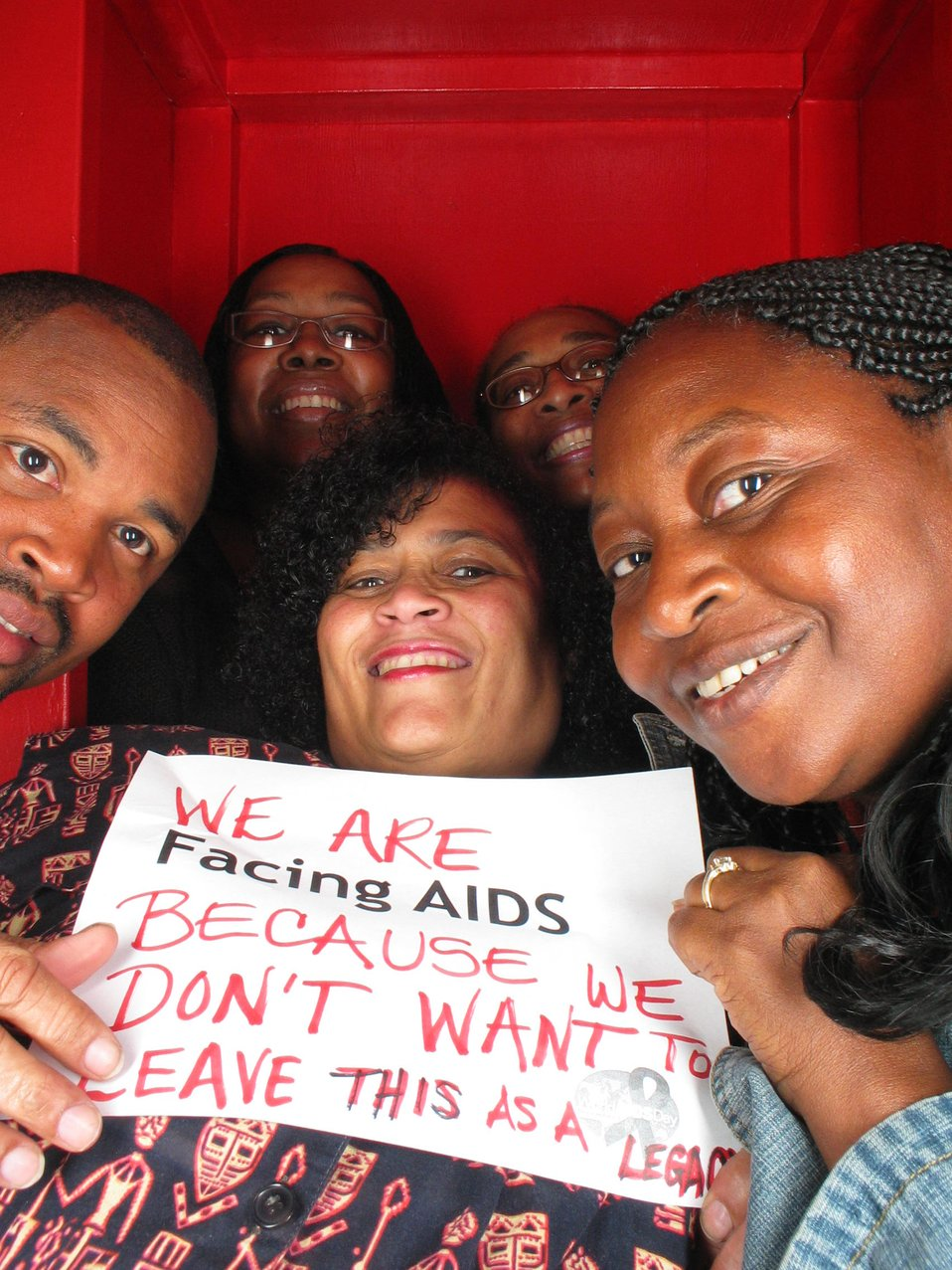 We are Facing AIDS because we don't want to leave this as a legacy