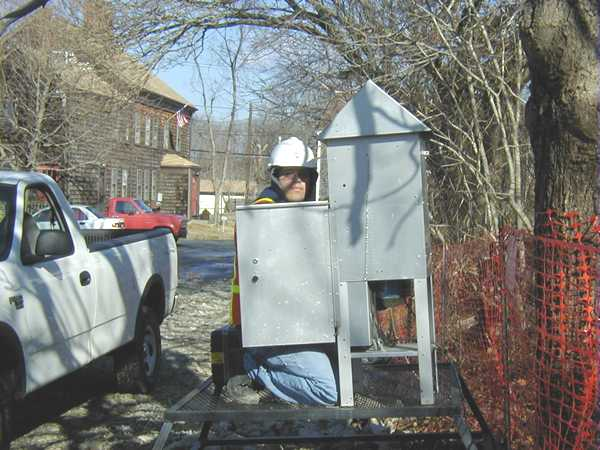 February 2001, Installing air monitoring equipment