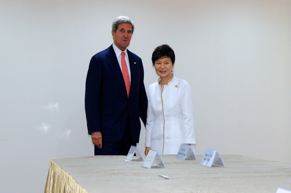 Secretary Kerry Meets With Republic of Korea President Park