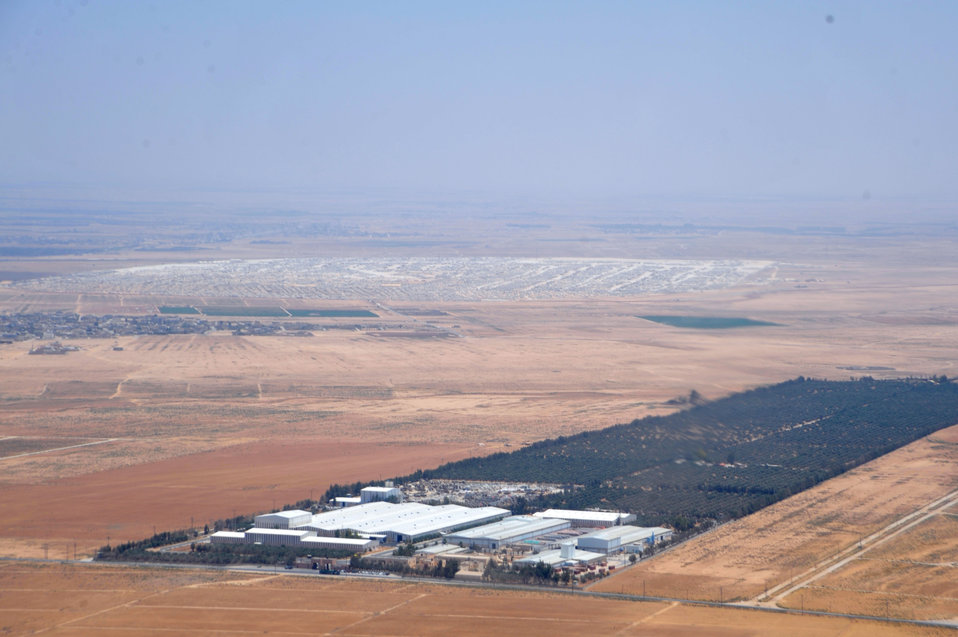Aerial View of the Za'atri Refugee Camp