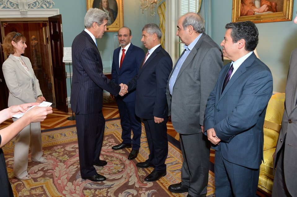 Secretary Kerry Welcomes Syrian Opposition Coalition Members