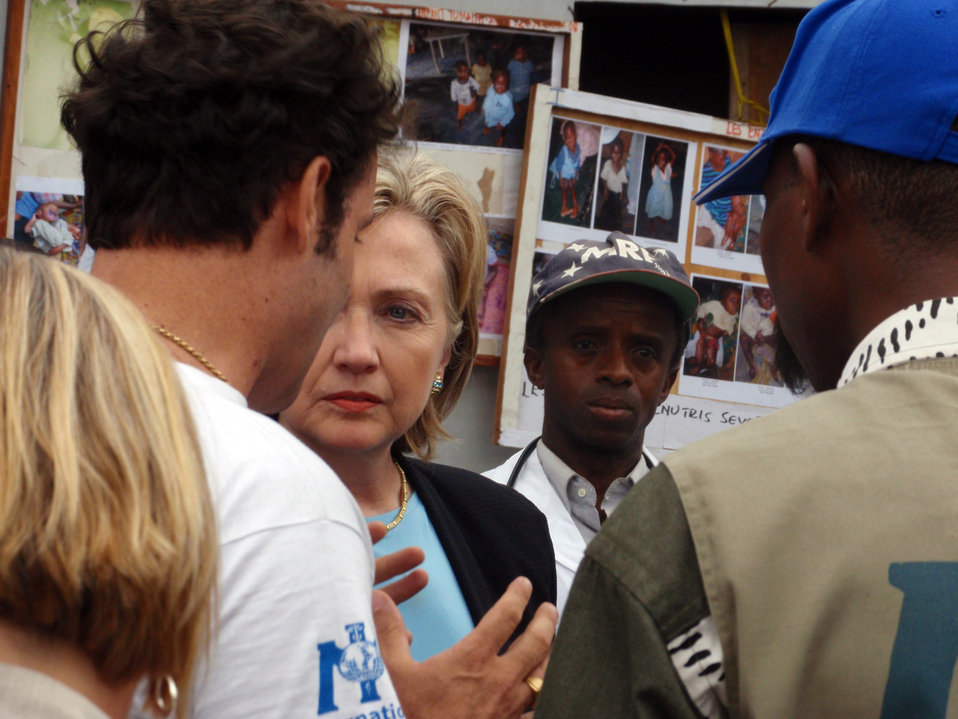 Behind the Scenes: Secretary Clinton Visits Mugunga IDP Camp