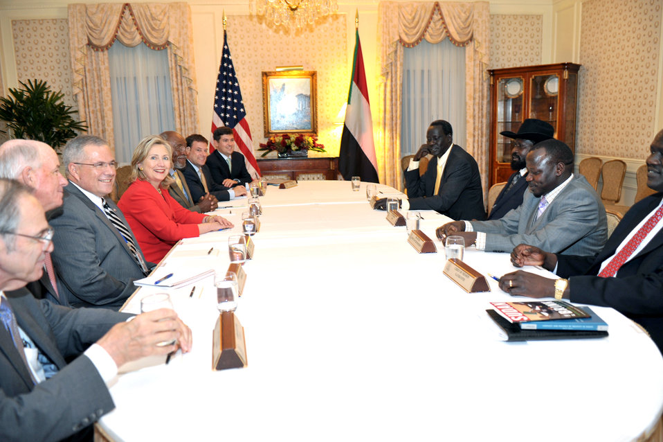 Secretary Clinton Holds a Bilateral With Sudanese Vice President Kiir