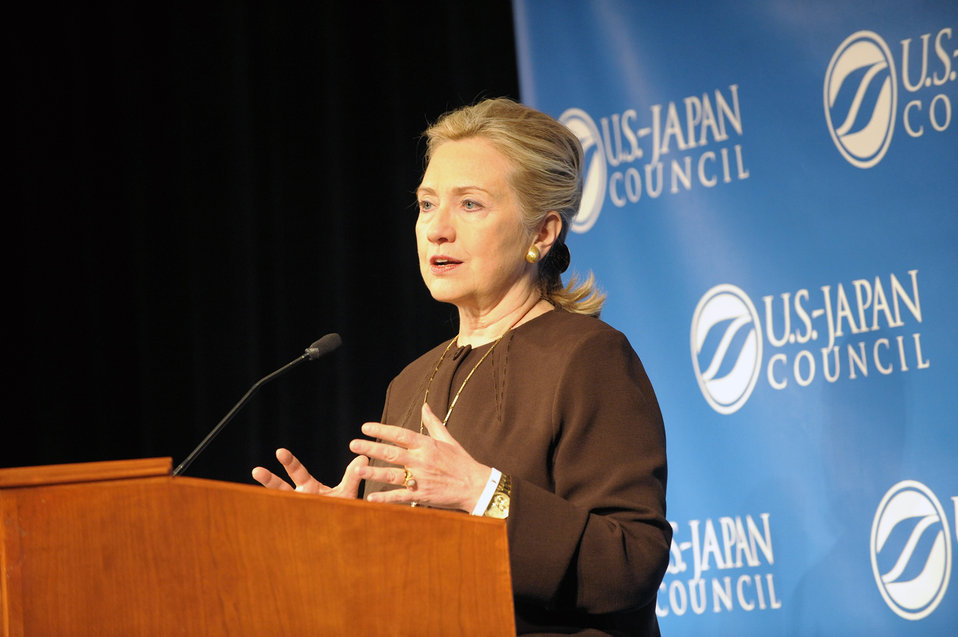 Secretary Clinton Delivers Remarks at the U.S.-Japan Council Annual Conference