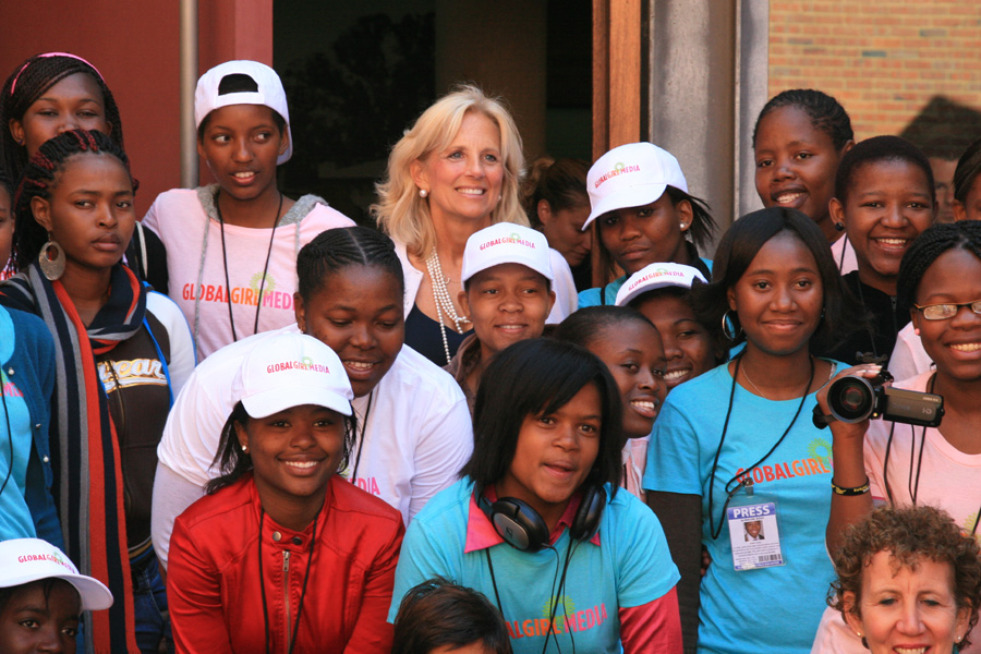Dr. Jill Biden With South African Students