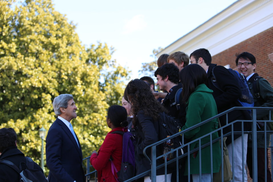 Secretary Kerry Meets With UVA Students