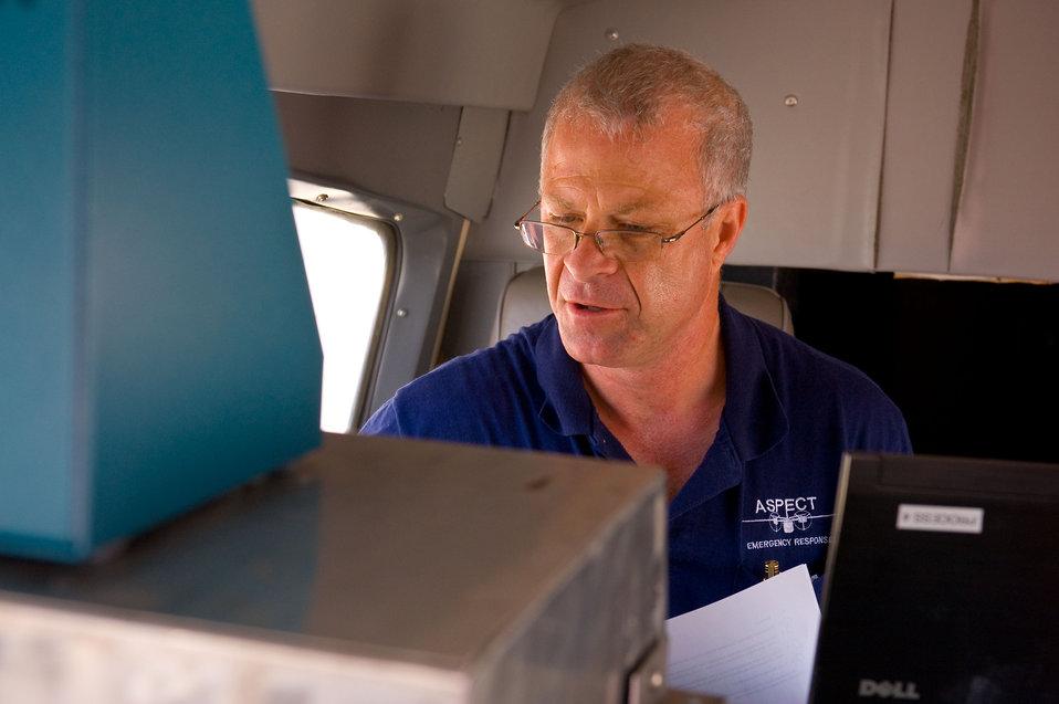 Aboard the ASPECT plane