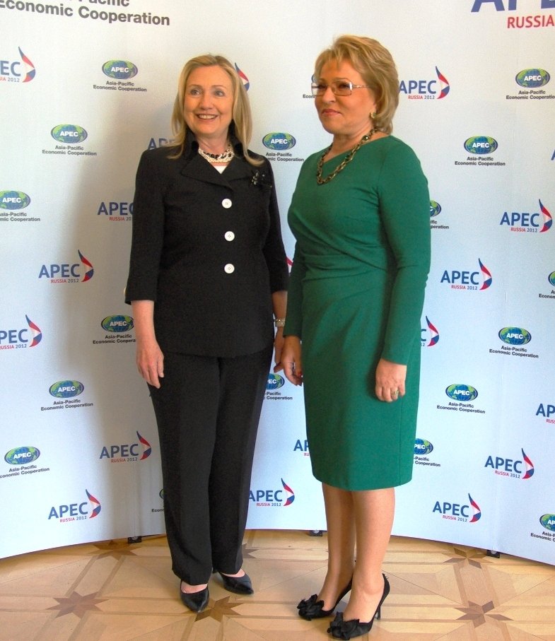 Secretary Clinton With Chairman Matveyenko