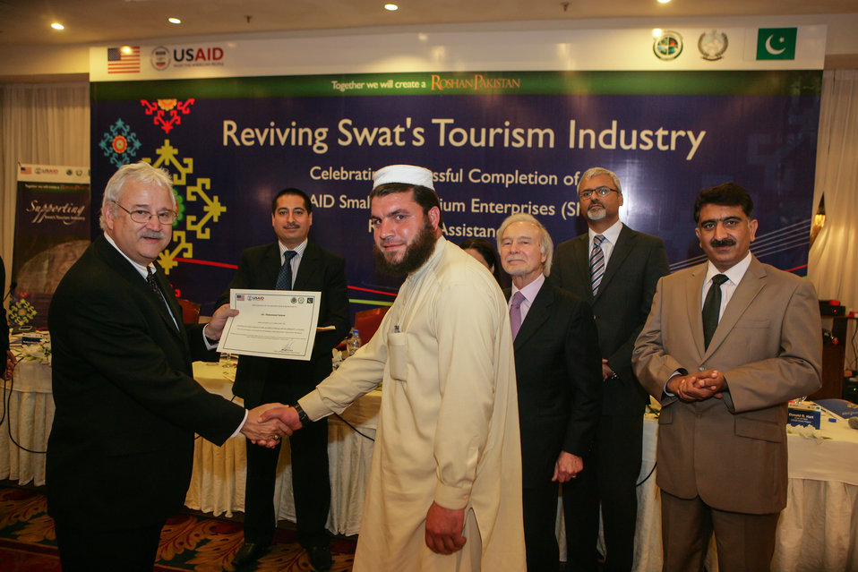 Graduation event of USAID Firms Project's Malakand Small and Medium Enterprises (SME) Recovery Assistance Program