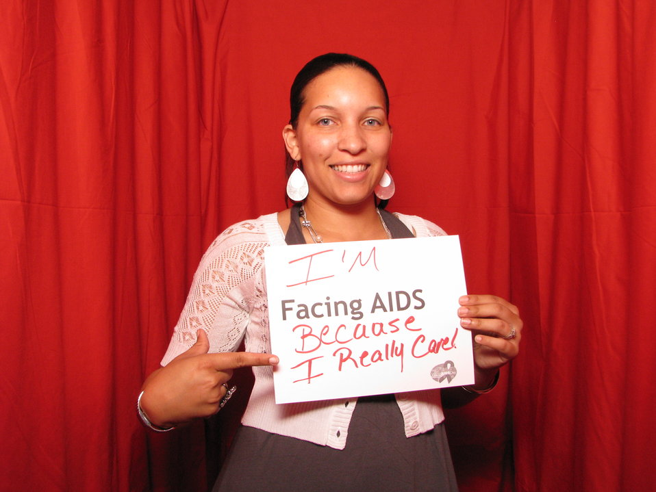 I'm FACING AIDS because I really care!