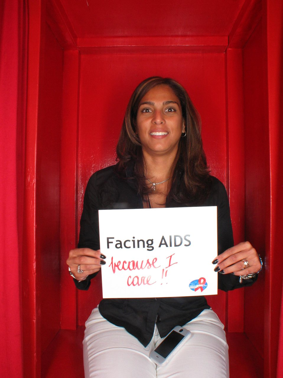 Facing AIDS because I care.