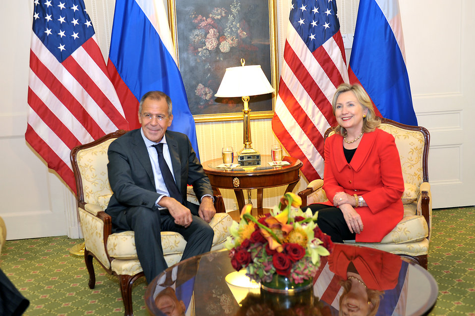 Secretary Clinton Holds a Bilateral With Russian Foreign Minister Lavrov