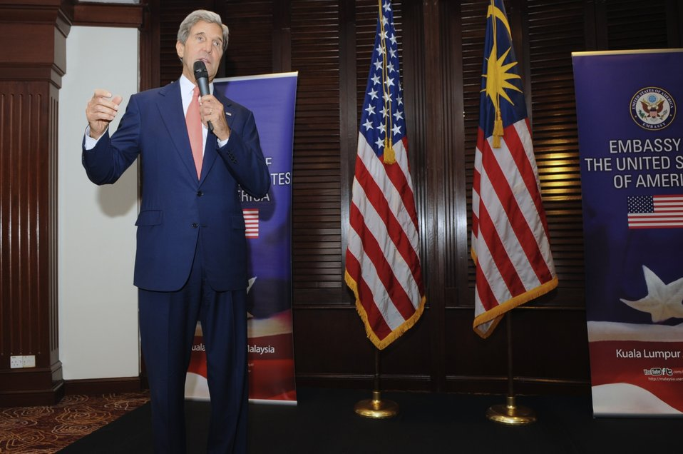 Secretary Kerry Addresses Staffers From Embassy Kuala Lumpur