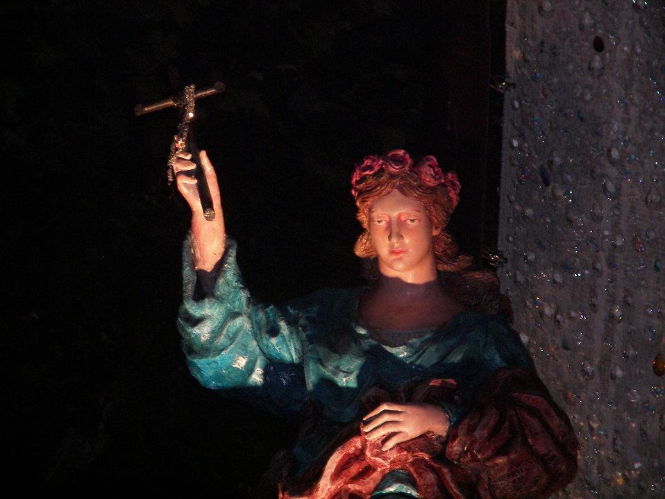 Italiano:  Autore e fonte, Riccardo Spoto. Simulacro di Santa Rosalia, sul carro trionfale, nel festino 2007.