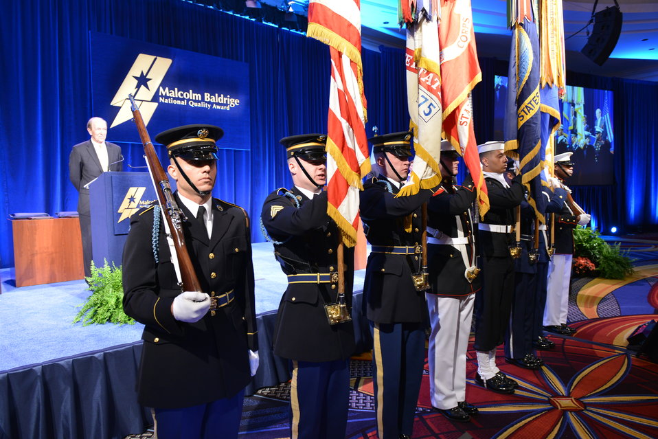 U.S. Joint Service Color Guard, 2013 Baldrige Award Ceremony,  April 6, 2014