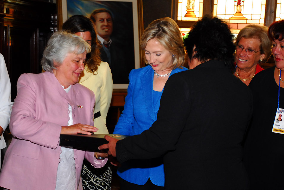 Secretary Clinton Meets With Uruguay Women Legislators