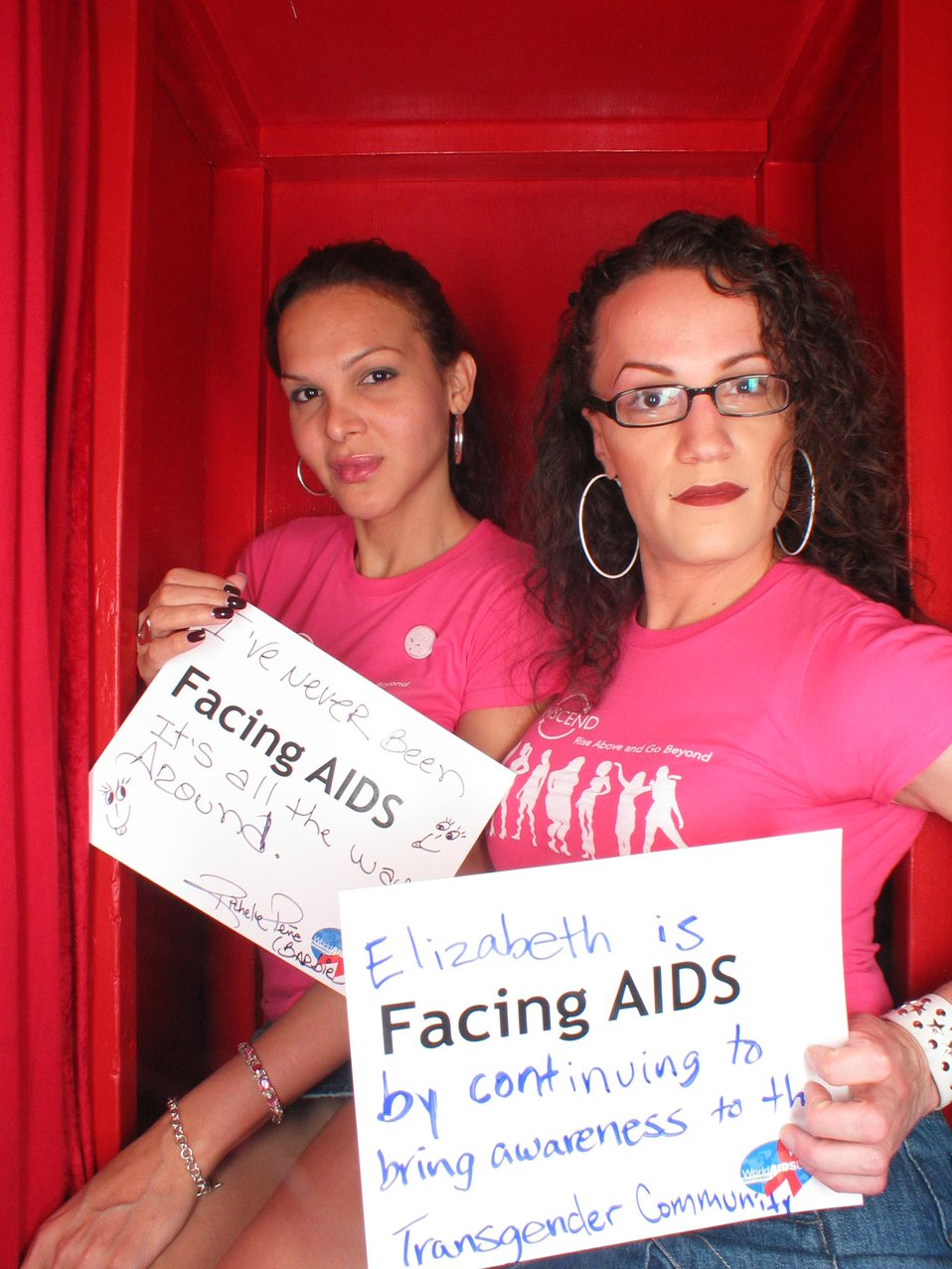 Facing AIDS by continuing to bring awareness to the transgender community.