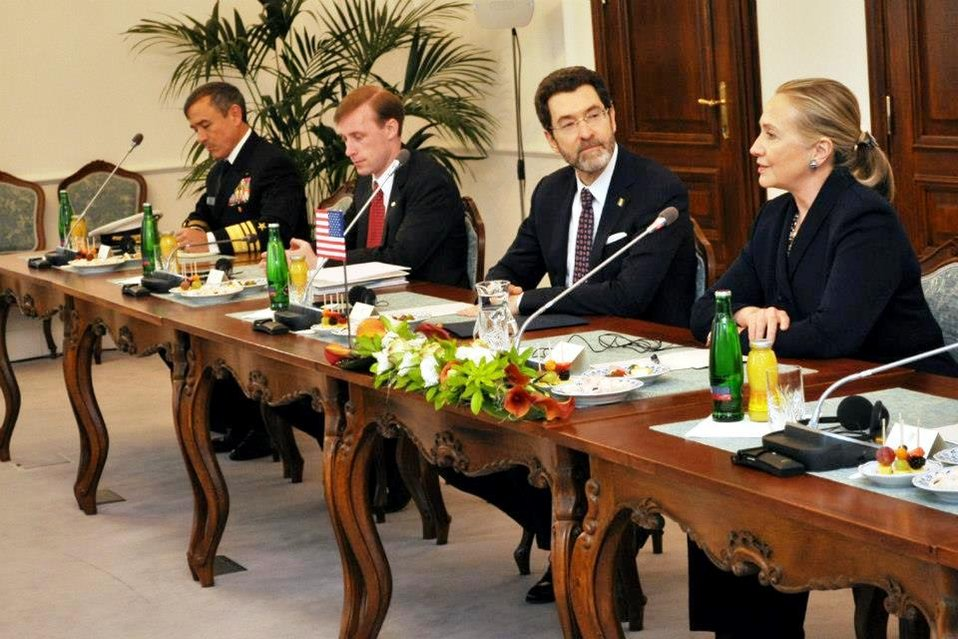 Secretary Clinton Meets With With Czech Prime Minister Necas