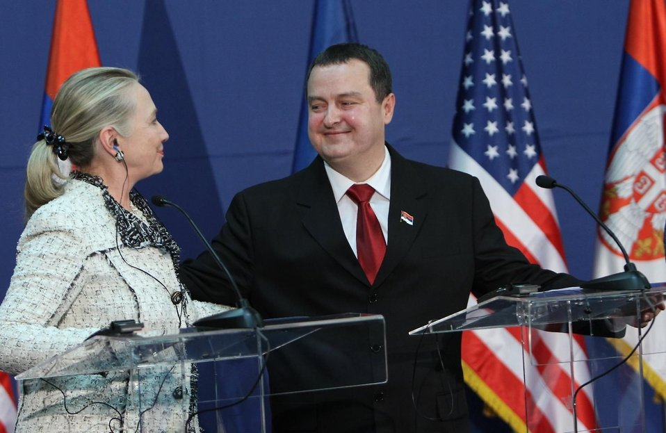 Secretary Clinton, Serbian Prime Minister Dačić, and EU High Representative Ashton Address Reporters