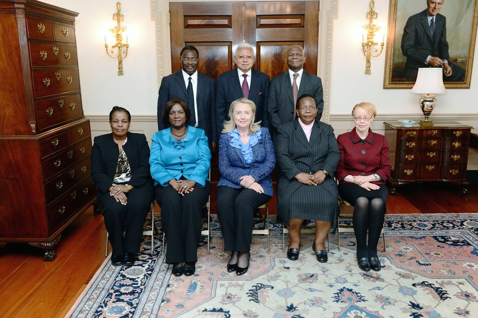 Secretary Clinton Meets With African Court Justices