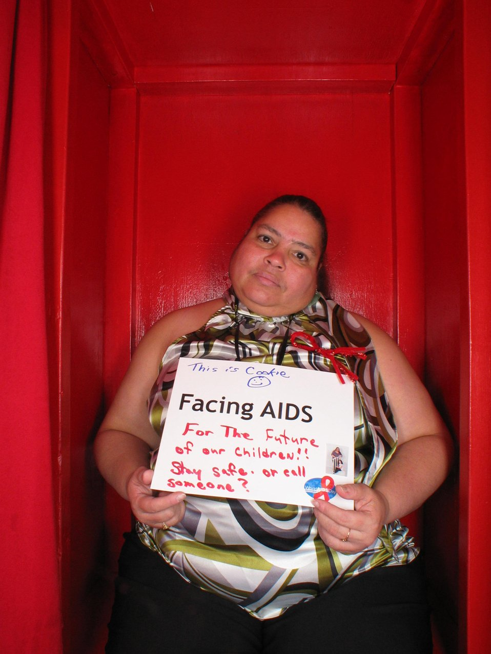 Facing AIDS for the future of our children!!! Stay safe.