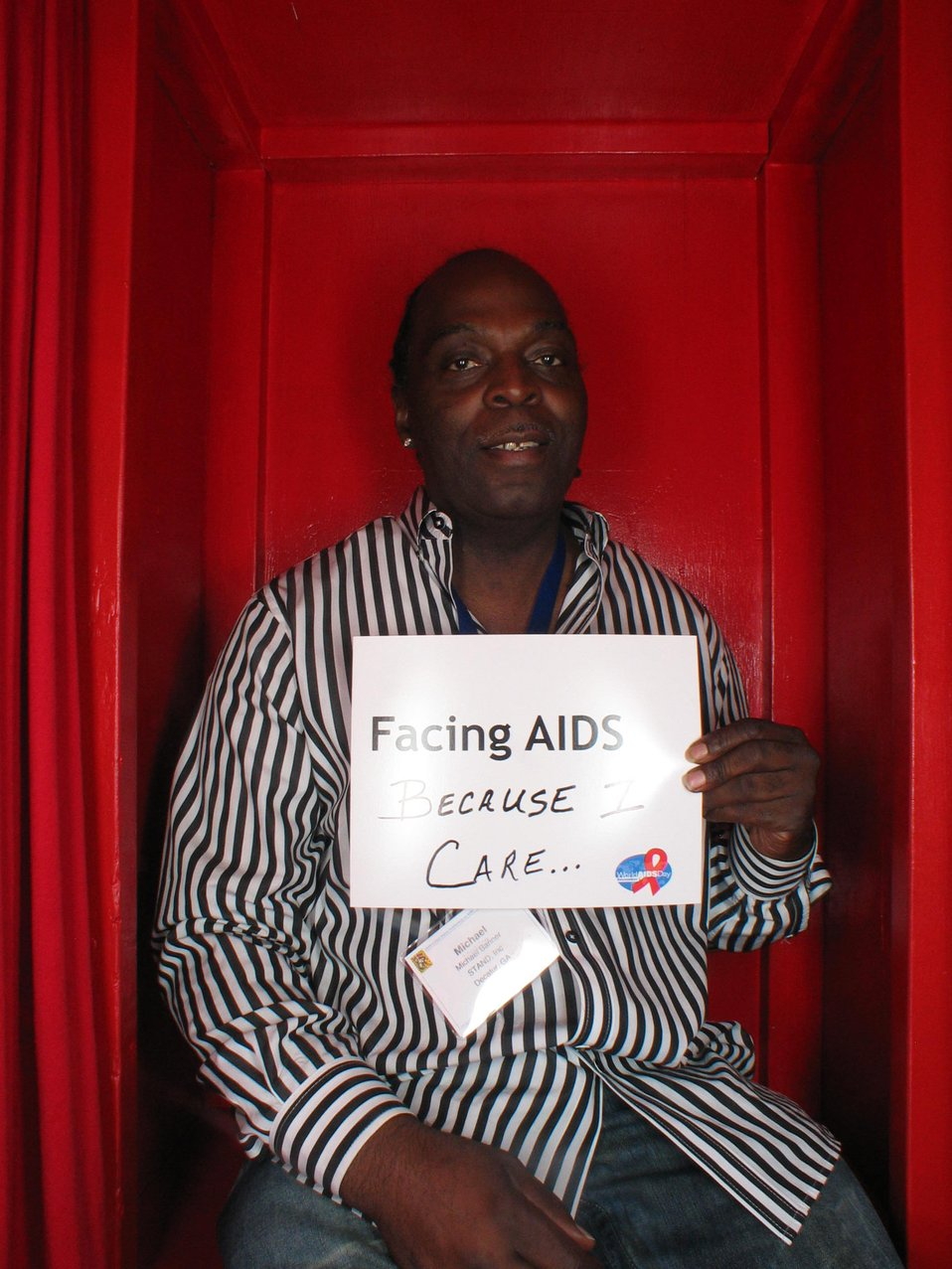 Facing AIDS because I care...