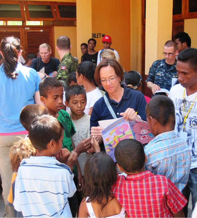 Commodore Franchetti and PP2010 Personnel Visit an Orphanage