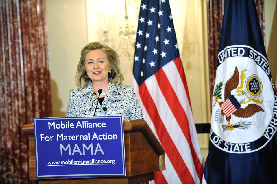 Secretary Clinton Unveils the Mobile Alliance for Maternal Action Partnership