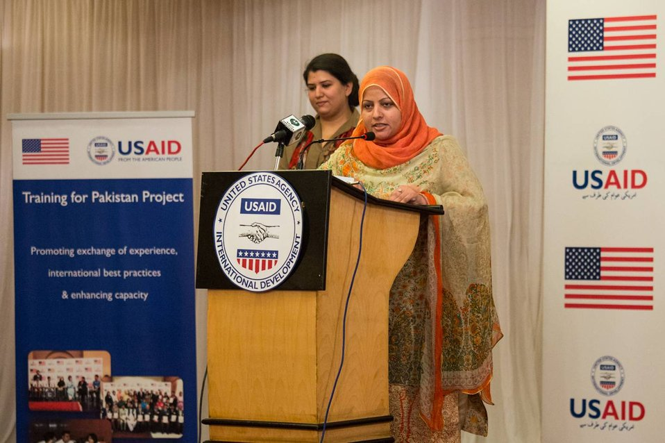Islamabad, September 26 2012 - A participant talks about her experience in the program.