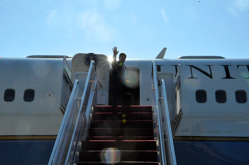 Secretary Kerry Sets Off for a 12-Day Trip