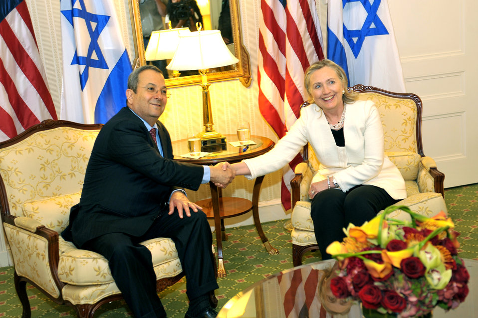 Secretary Clinton Holds a Bilateral Meeting With Israeli Defense Minister Barak