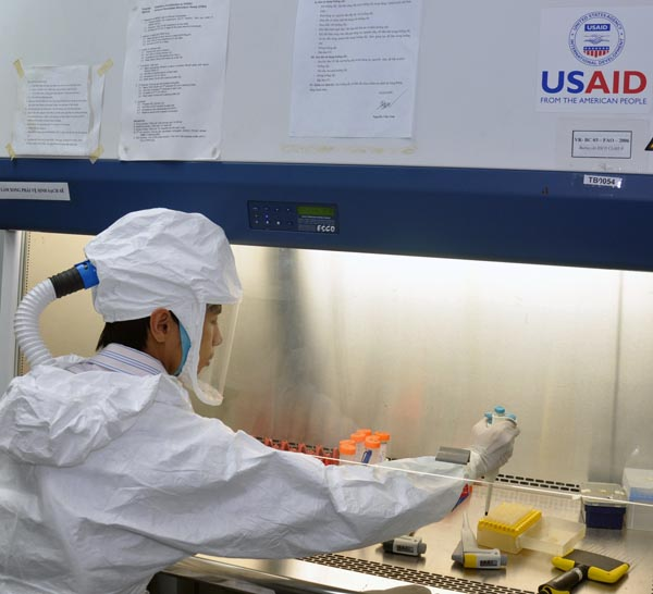 USAID support to laboratories helping control viruses in Vietnam