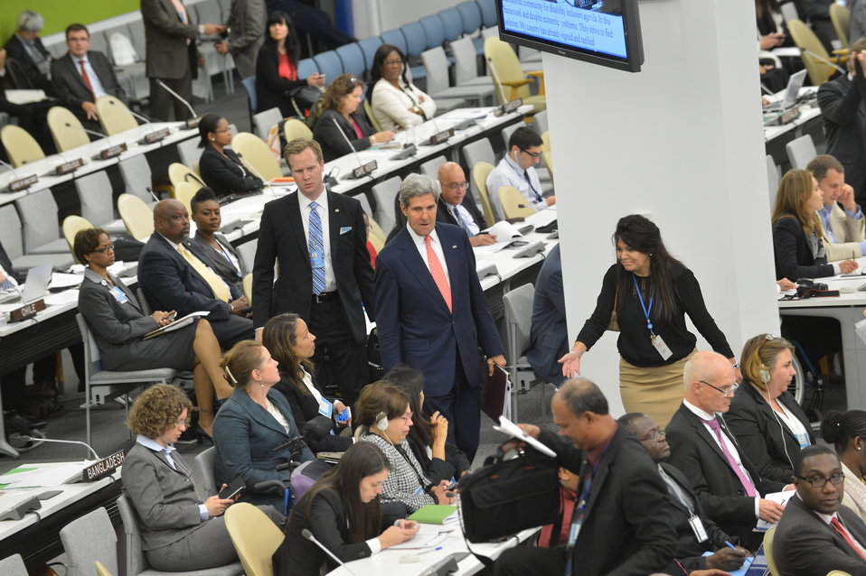 Secretary Kerry Arrives at the United Nations