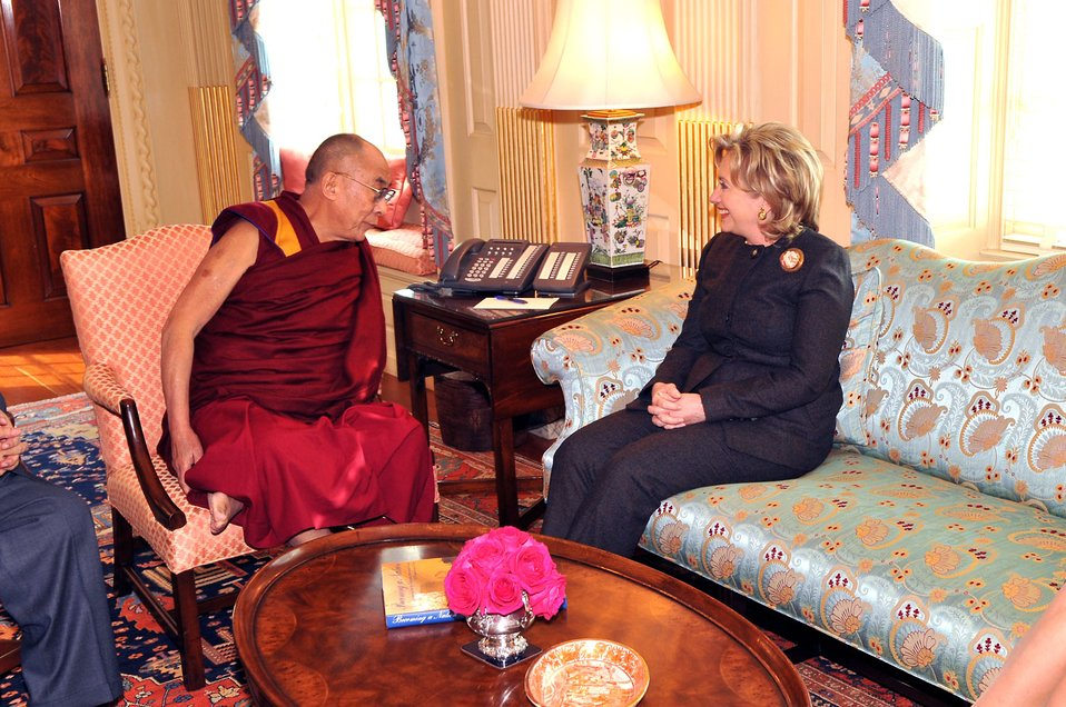 Secretary Clinton Meets With His Holiness the Dalai Lama