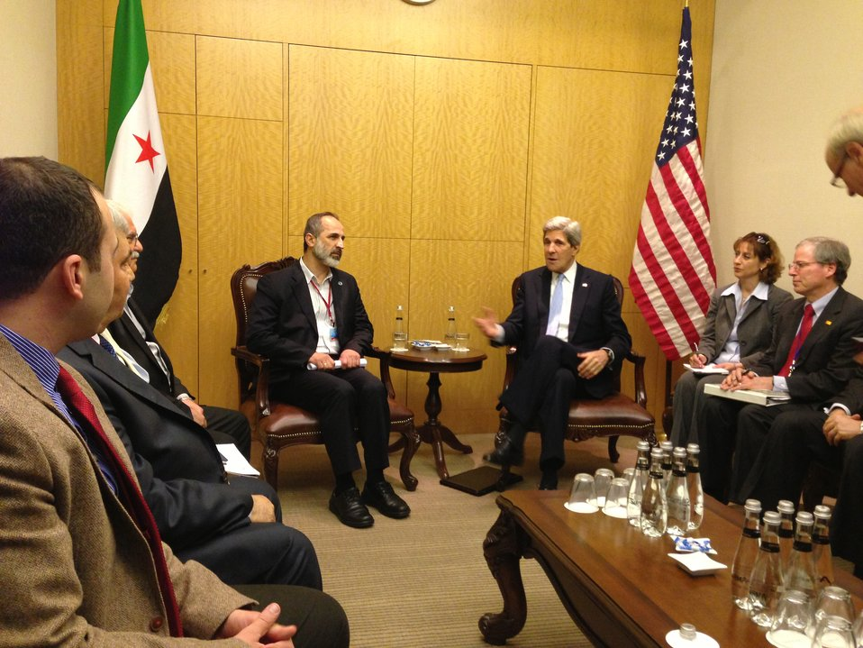 Secretary Kerry Meets With Syrian Opposition Council Chairman al-Khatib