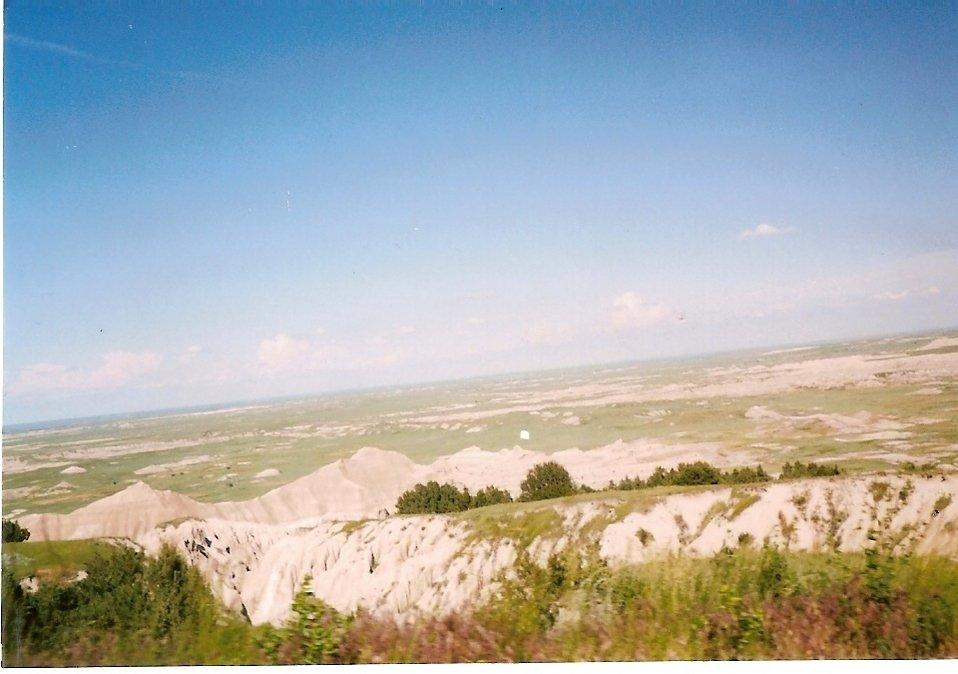 Badlands National Park. Taken the old fashioned way in June 2003.