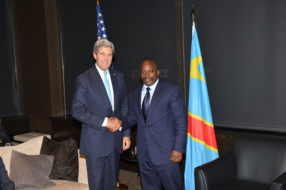 Secretary Kerry Meets With DRC President Kabila