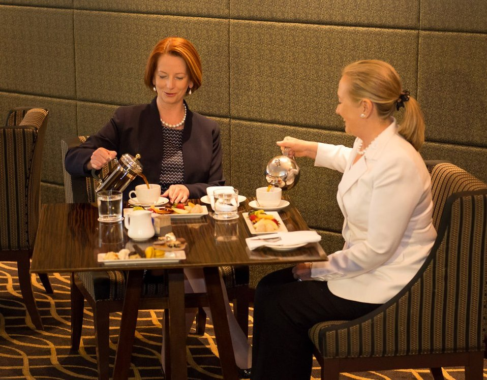 Secretary Clinton Meets With Australian Prime Minister Gillard