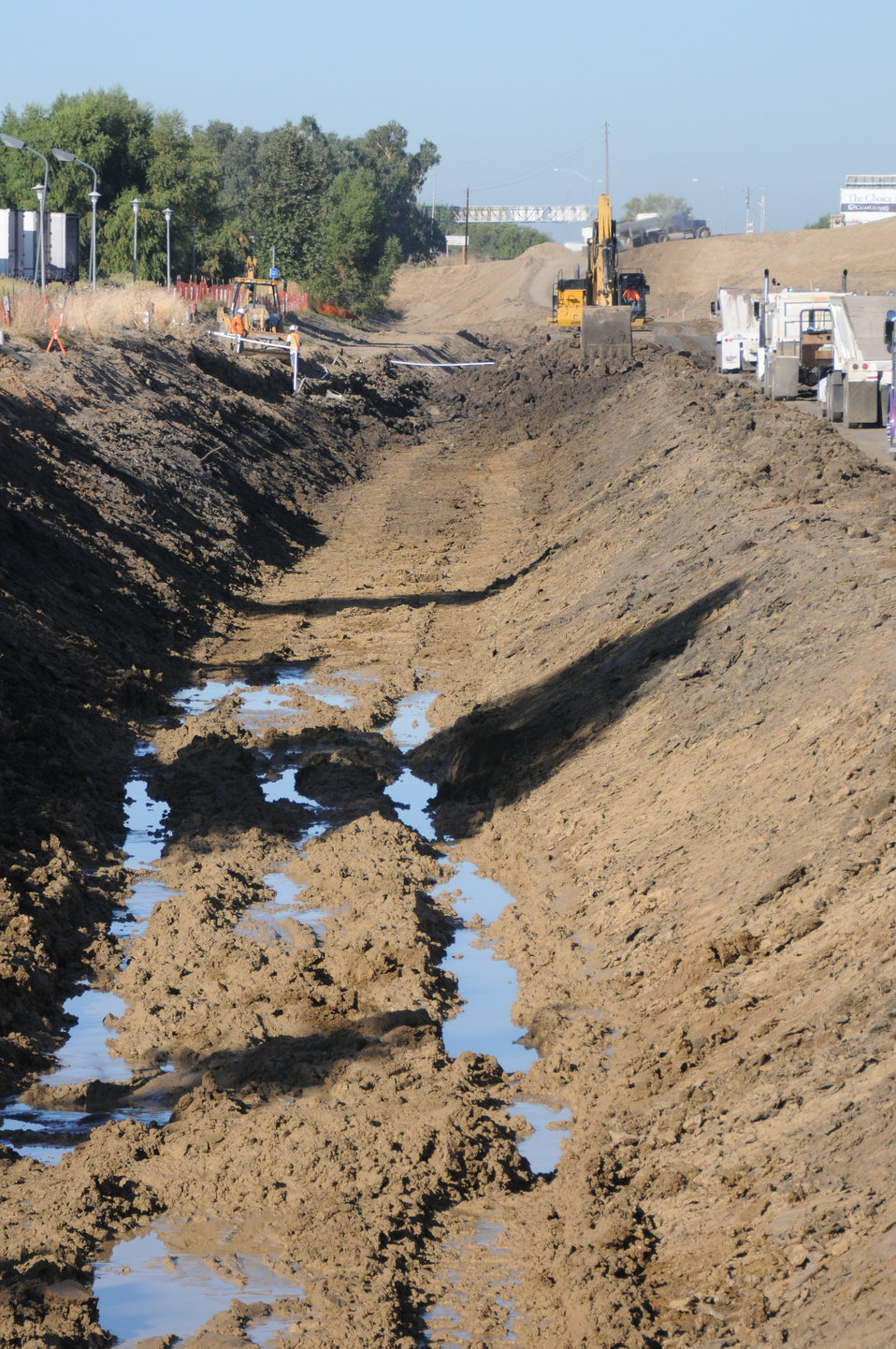 Seepage collects at the Yolo Bypass