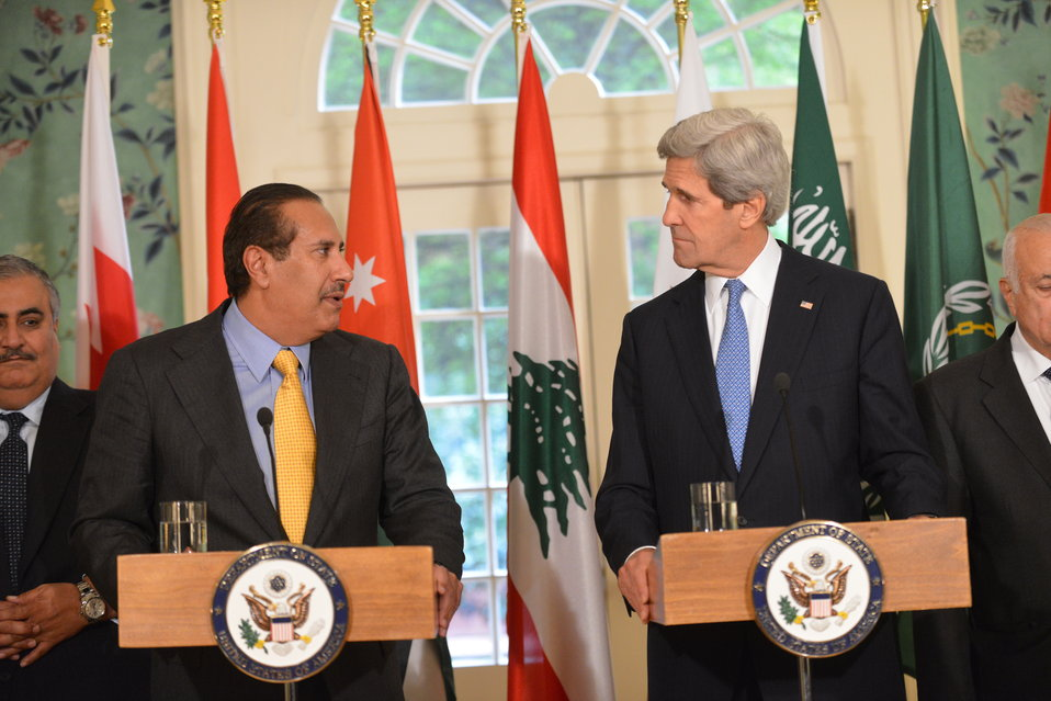 Secretary Kerry and and Qatari Prime Minister and Foreign Minister Sheikh Hamad bin Jassim bin Jabr Al-Thani Deliver a Joint Statement