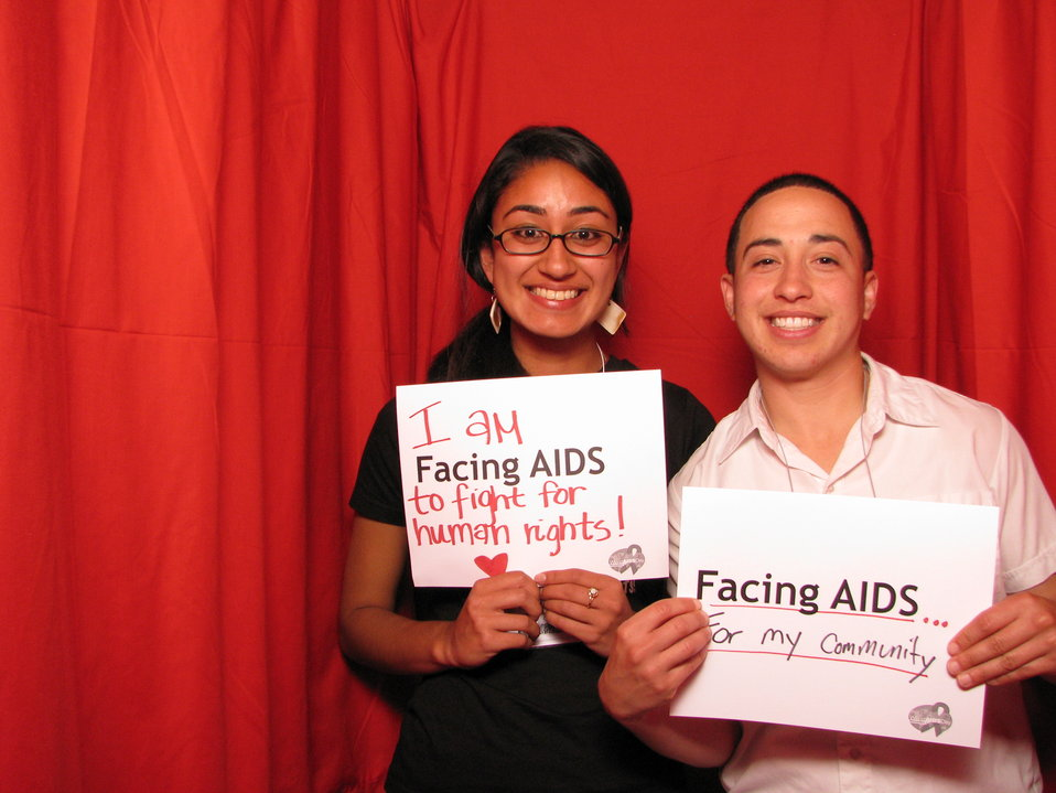 I am FACING AIDS to fight for human rights! FACING AIDS... for my community.