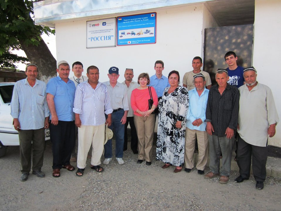 Senior Advisor Madelyn Spirnak and Foreign Affairs Officer Dano Wilusz Visit USAID-Supported Water Users' Association