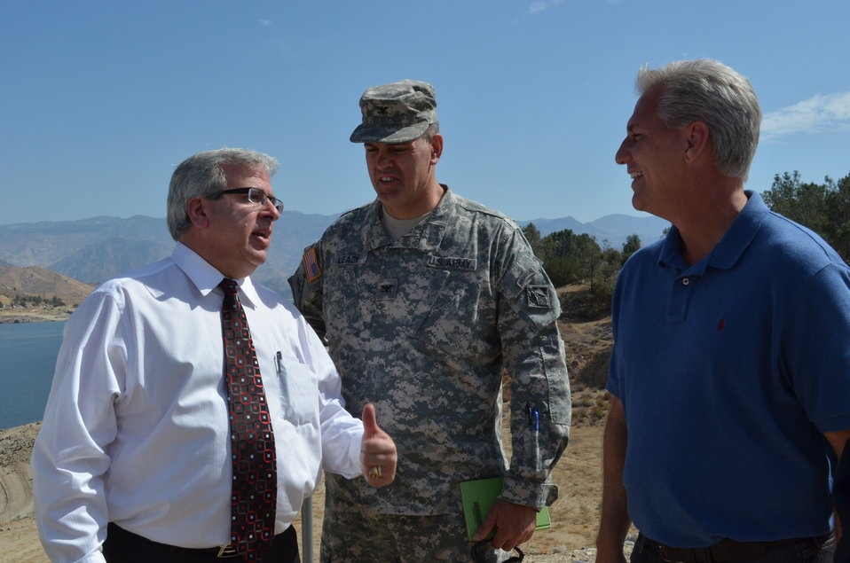 Congressman, Corps officials tour Isabella Lake