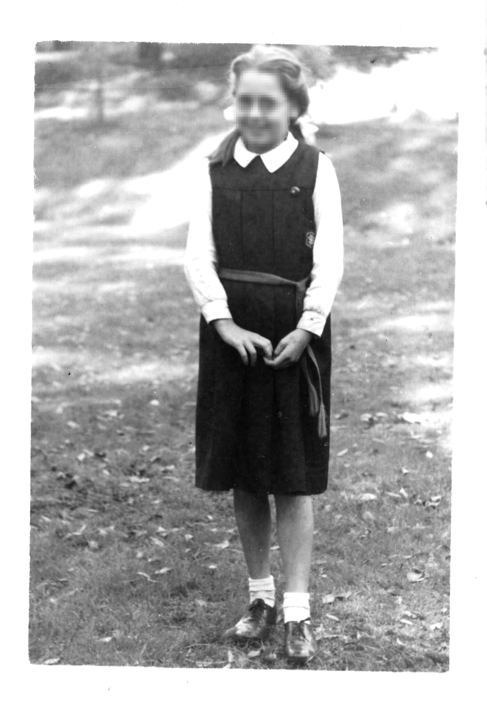 My mother granted me permission to use a photo of her in her school uniform on the pages about both school uniform, schools and 1950. She dose not mind it being used elsewhere by others on the Wiki if they wish to. She released the copy right rights to. I