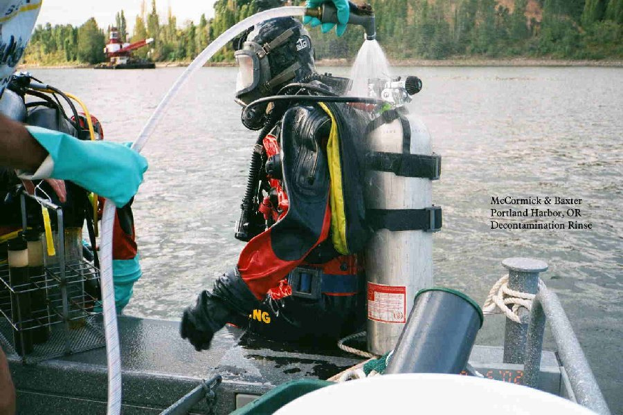 Diver Decon, Portland Harbor Superfund Site, Oregon