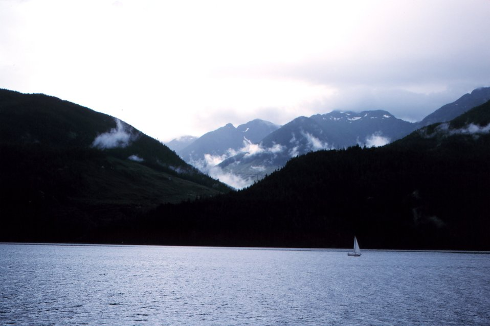 Somewhere along the Inside Passage.